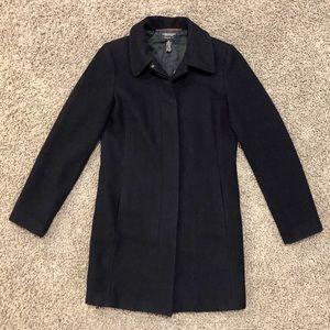 American Eagle navy blue wool coat XS